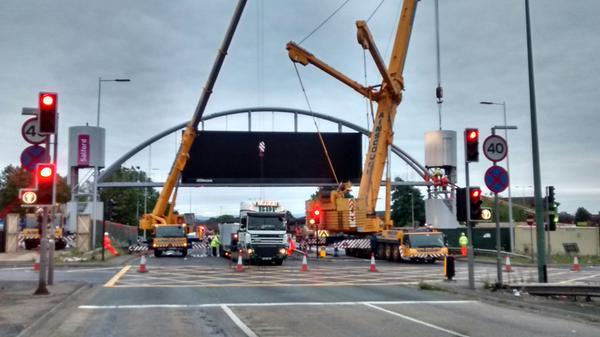 Salford Arch in progress